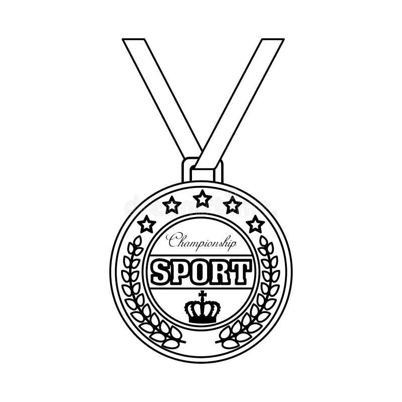 Значок медали спорта чемпиона бесплатная иллюстрация