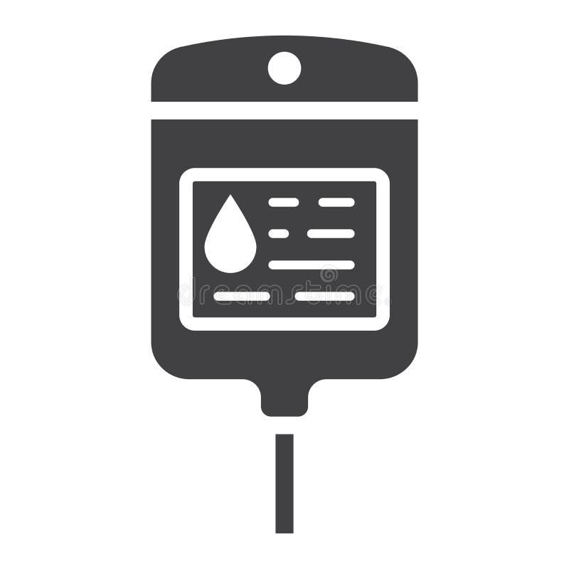 Значок, медицина и здравоохранение глифа сумки Iv иллюстрация штока