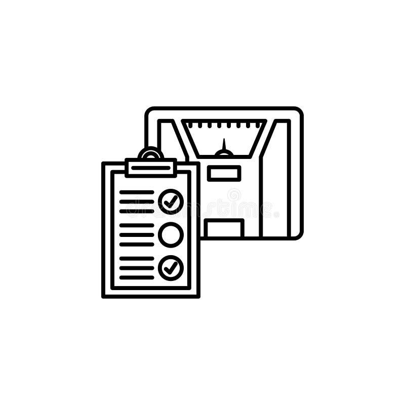 значок медицинского осмотра Элемент значка дня Карциномы для передвижных apps концепции и сети Тонкая линия значок медицинского о бесплатная иллюстрация