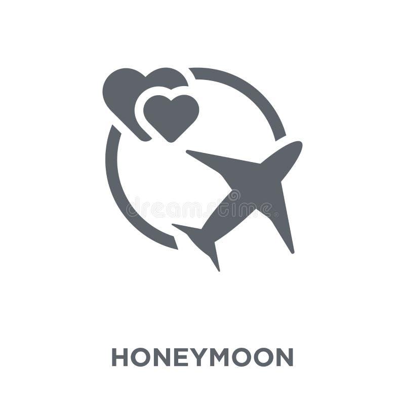 Значок медового месяца от собрания свадьбы и любов бесплатная иллюстрация