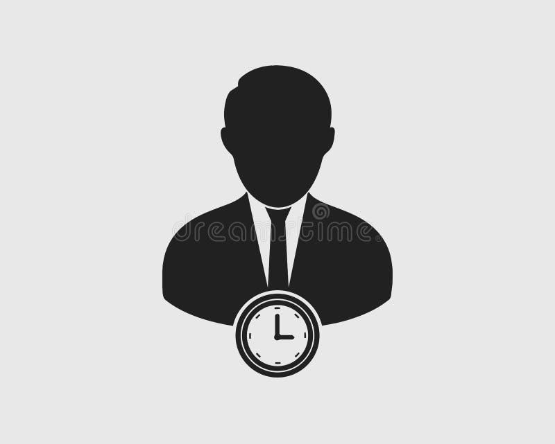 Значок менеджера расписания на серой предпосылке иллюстрация вектора