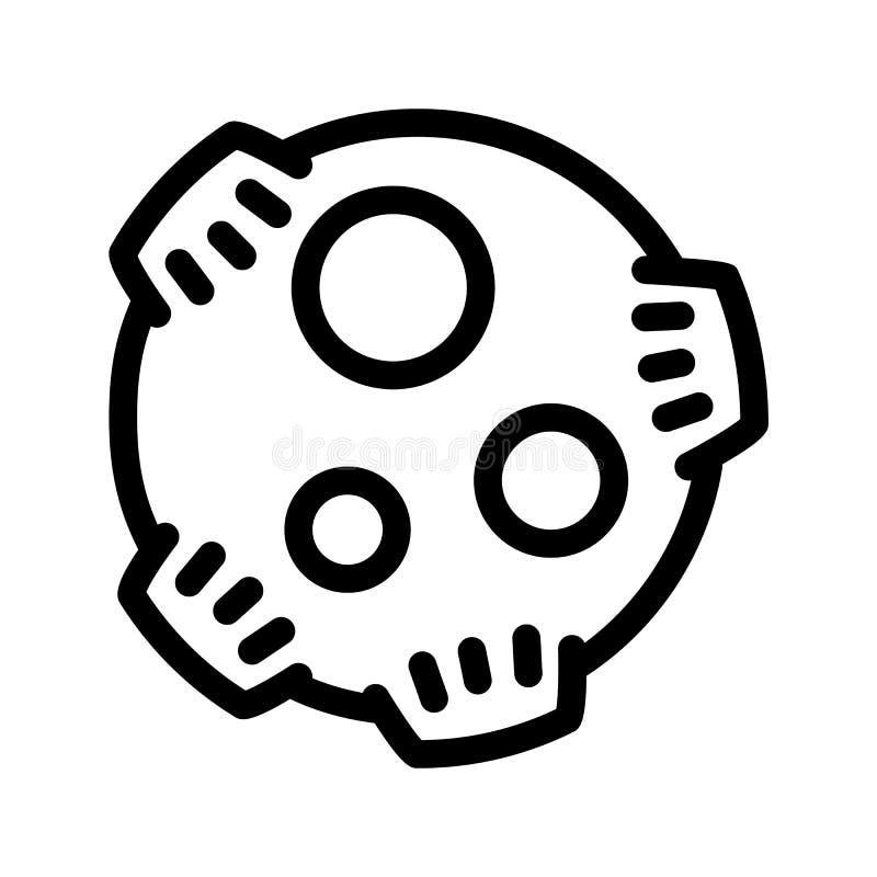 Значок метеорита, стиль плана иллюстрация штока