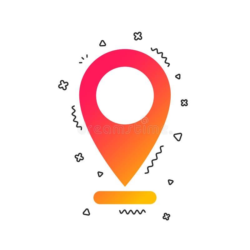 Значок метки интернета Символ указателя навигации вектор иллюстрация штока