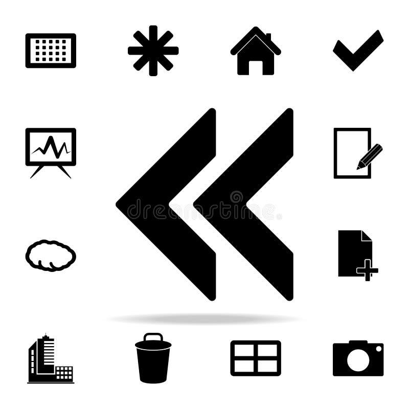 значок метки backsight комплект значков сети всеобщий для сети и черни бесплатная иллюстрация
