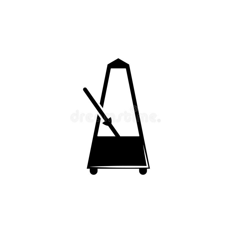 Значок метронома Элемент значка музыки Наградной качественный значок графического дизайна Знаки и значок для вебсайтов, сеть de с иллюстрация вектора