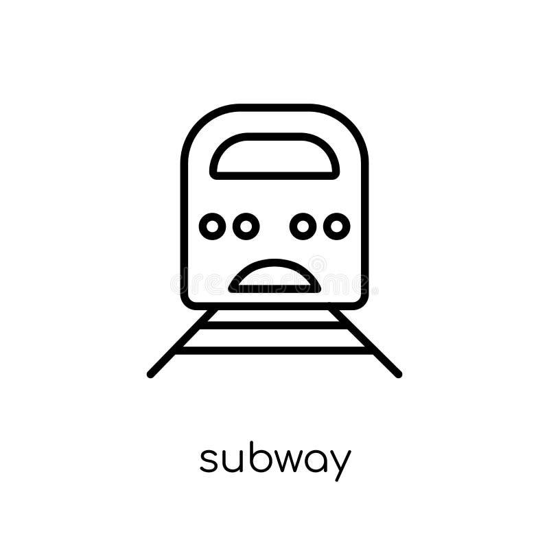 Значок метро от собрания бесплатная иллюстрация