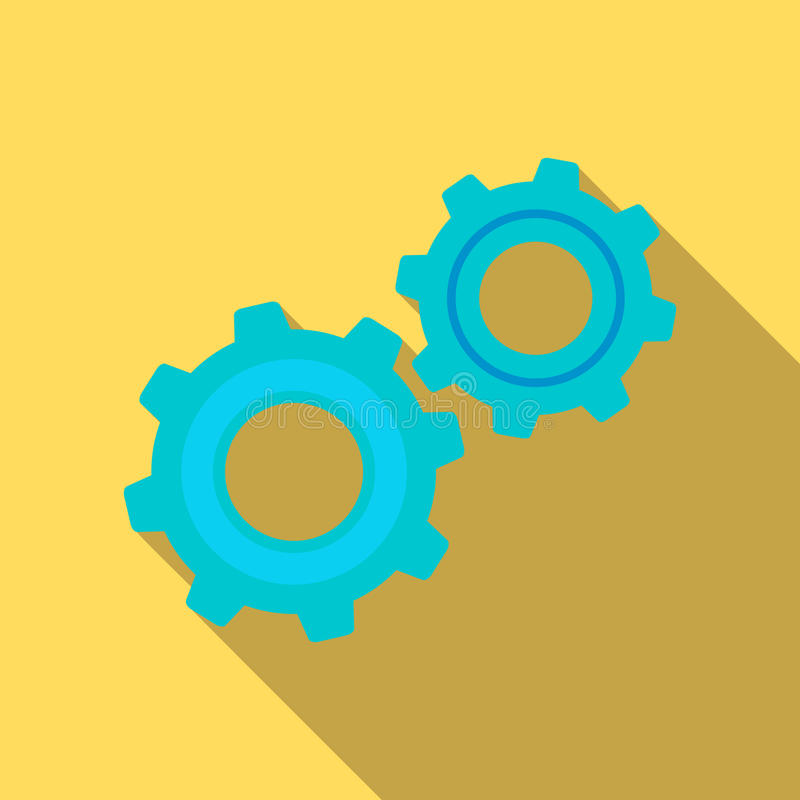Значок механизма шестерни в плоском стиле иллюстрация штока