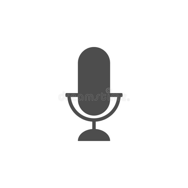 Значок микрофона Значок элемента кино Наградной качественный графический дизайн Знаки, значок для вебсайтов, des собрания символо иллюстрация вектора