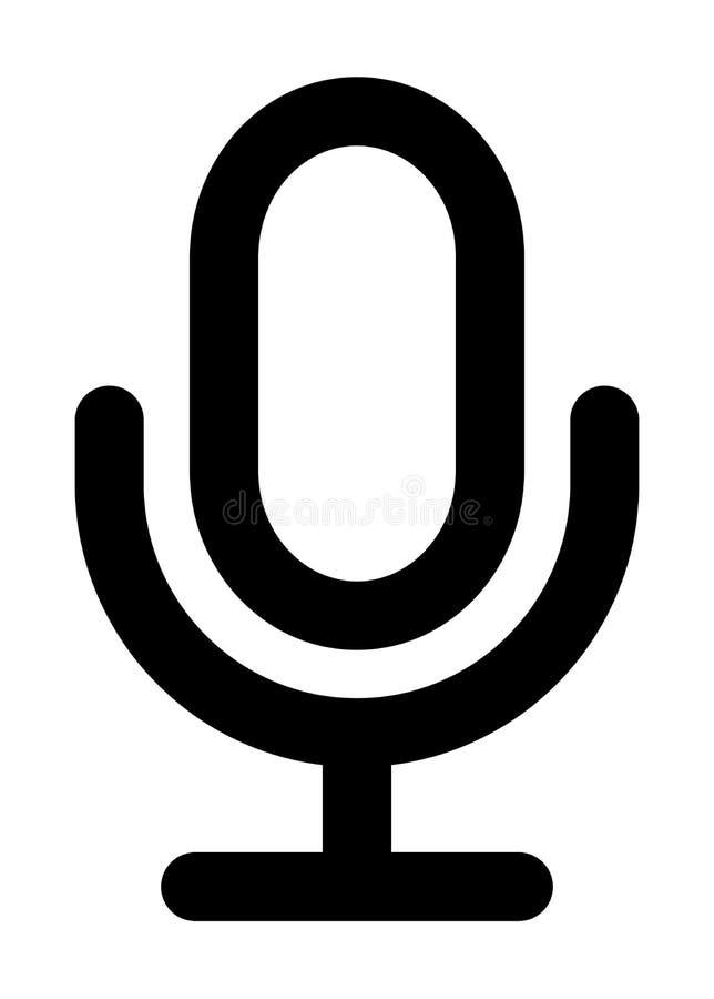 Значок микрофона иллюстрация вектора