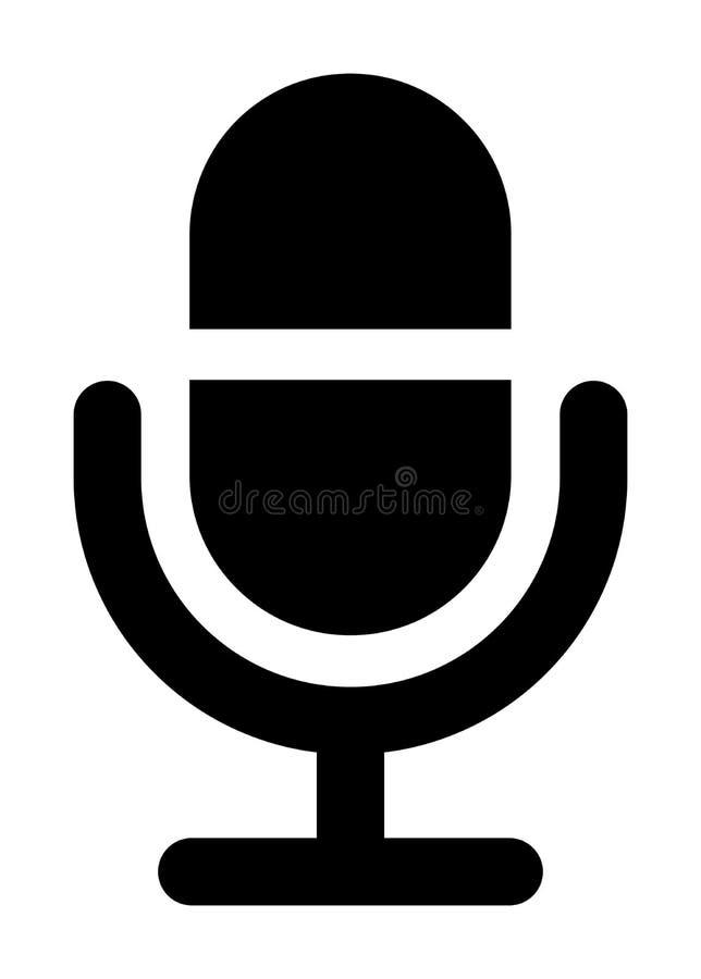 Значок микрофона иллюстрация штока