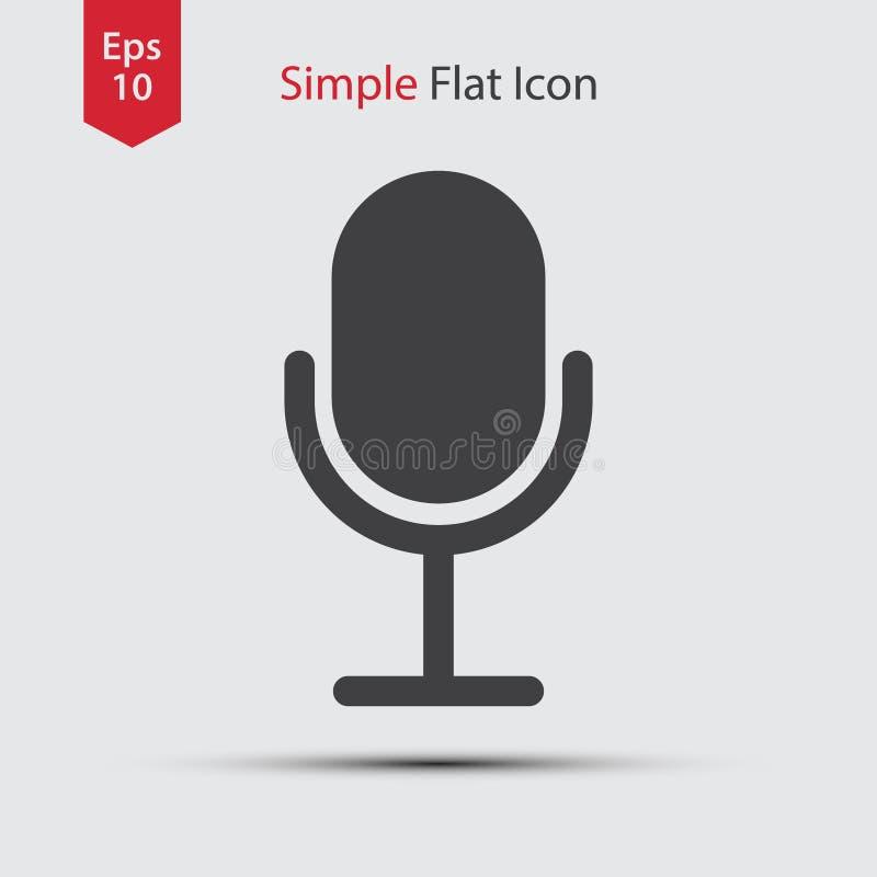 Значок микрофона стоковые изображения rf