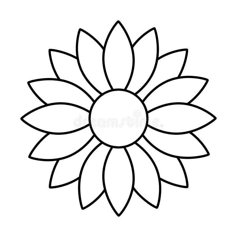 Значок милого солнцецвета декоративный иллюстрация штока
