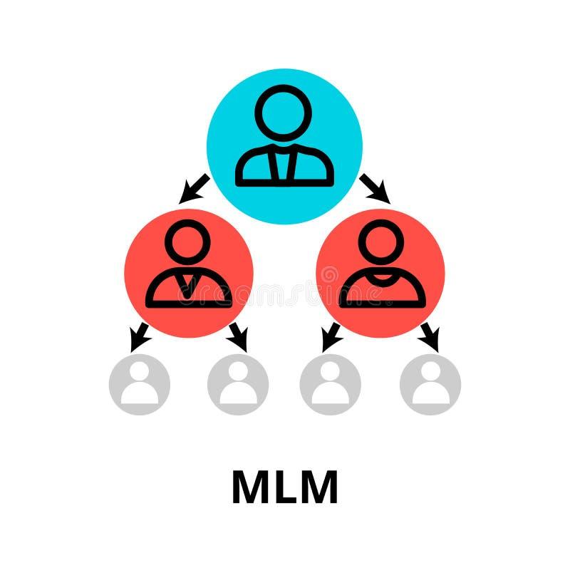 Значок многоуровневого маркетинга, для графика и веб-дизайна иллюстрация вектора