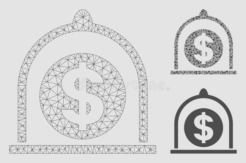 Значок мозаики модели и треугольника туши сетки вектора доллара стандартный бесплатная иллюстрация