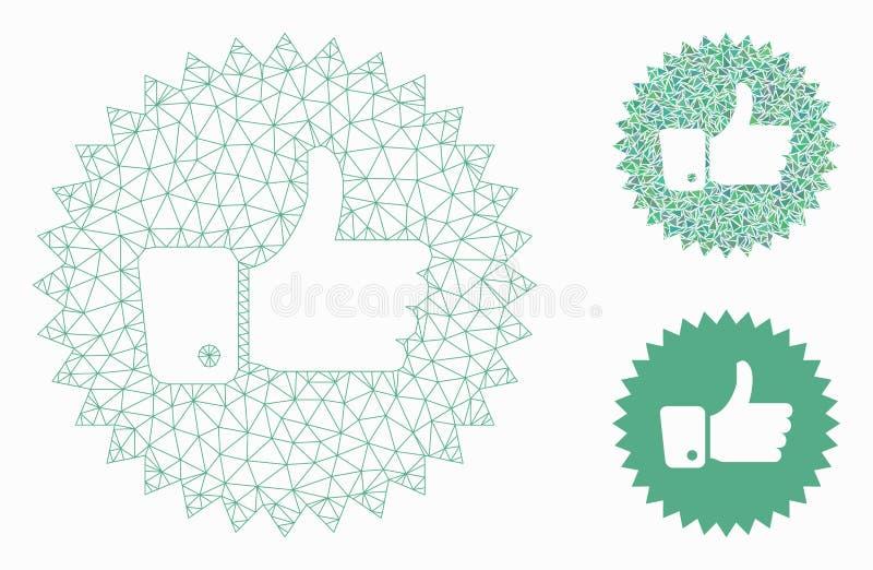 Значок мозаики модели и треугольника туши сетки вектора розетки утверждения бесплатная иллюстрация