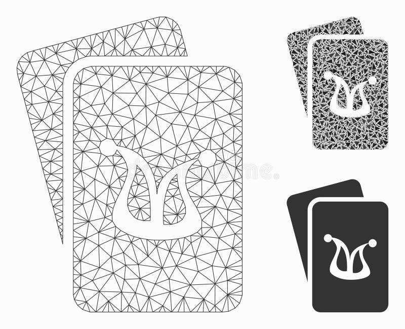 Значок мозаики сетевой модели и треугольника ячеистой сети вектора карт шутника играя в азартные игры бесплатная иллюстрация