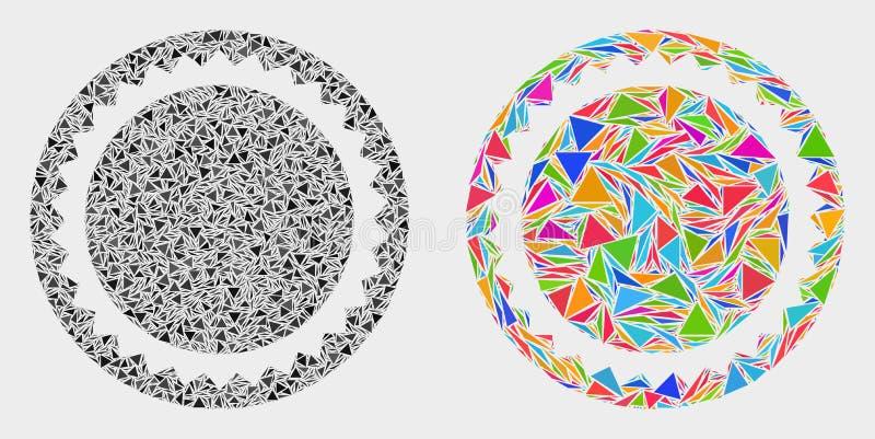 Значок мозаики шаблона уплотнения вектора круглый деталей треугольника бесплатная иллюстрация