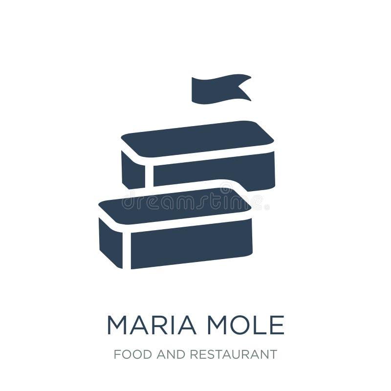 значок моли maria в ультрамодном стиле дизайна значок моли maria изолированный на белой предпосылке значок вектора моли maria про иллюстрация вектора