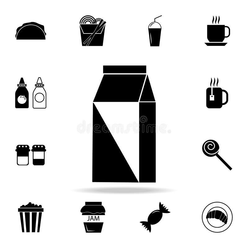 Значок молока Детальный комплект значков еды и питья Наградной качественный графический дизайн Один из значков собрания для вебса бесплатная иллюстрация