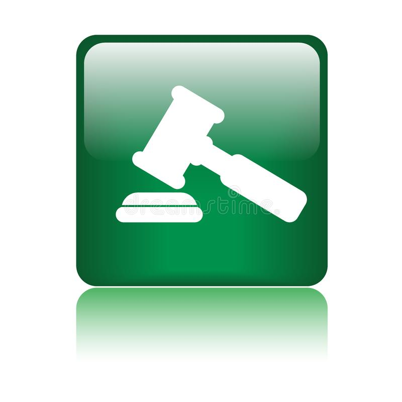 Значок молотка/молотка правосудия иллюстрация вектора
