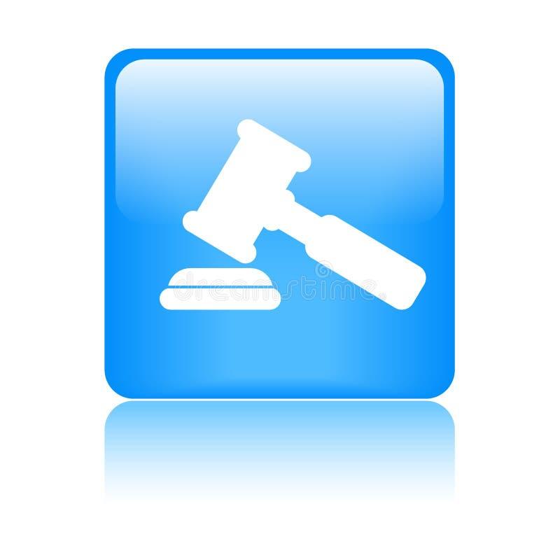 Значок молотка/молотка правосудия иллюстрация штока
