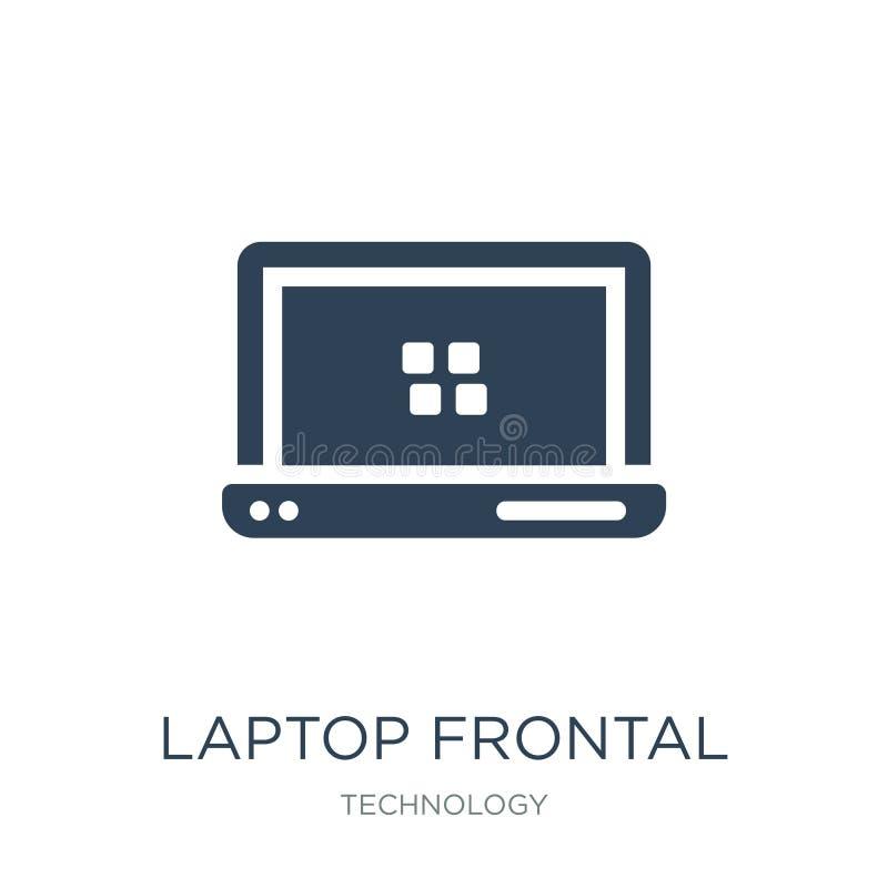 значок монитора ноутбука прифронтовой в ультрамодном стиле дизайна значок монитора ноутбука прифронтовой изолированный на белой п бесплатная иллюстрация