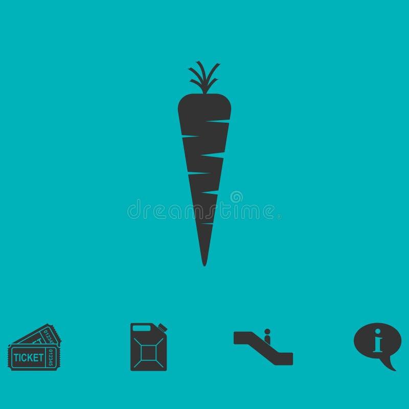 Значок моркови плоский иллюстрация штока