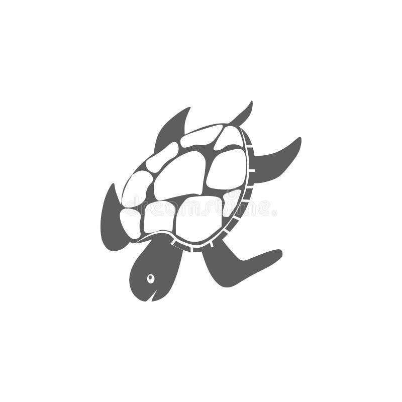 Значок морской черепахи вектор иллюстрация штока