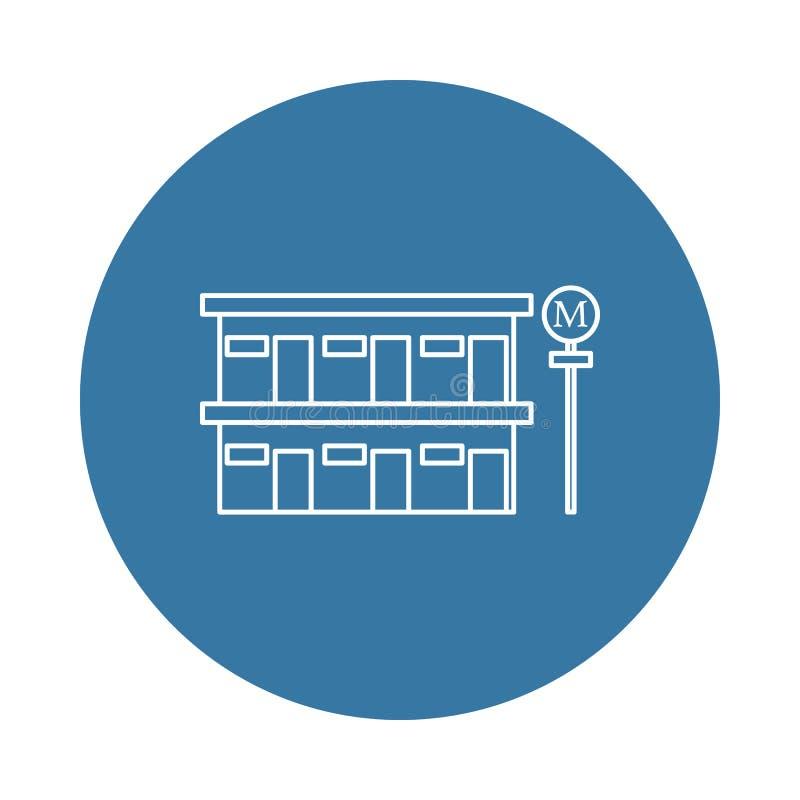 значок мотеля обочины Элемент значков гостиницы для передвижных apps концепции и сети Значок мотеля обочины стиля значка можно ис иллюстрация вектора
