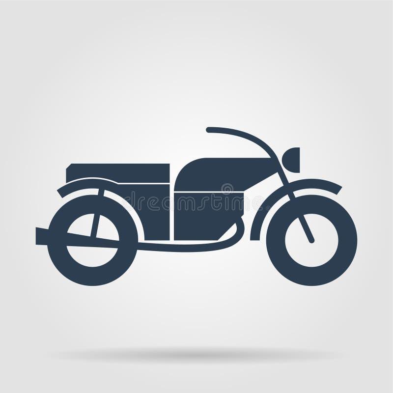 Значок мотоцикла иллюстрация штока