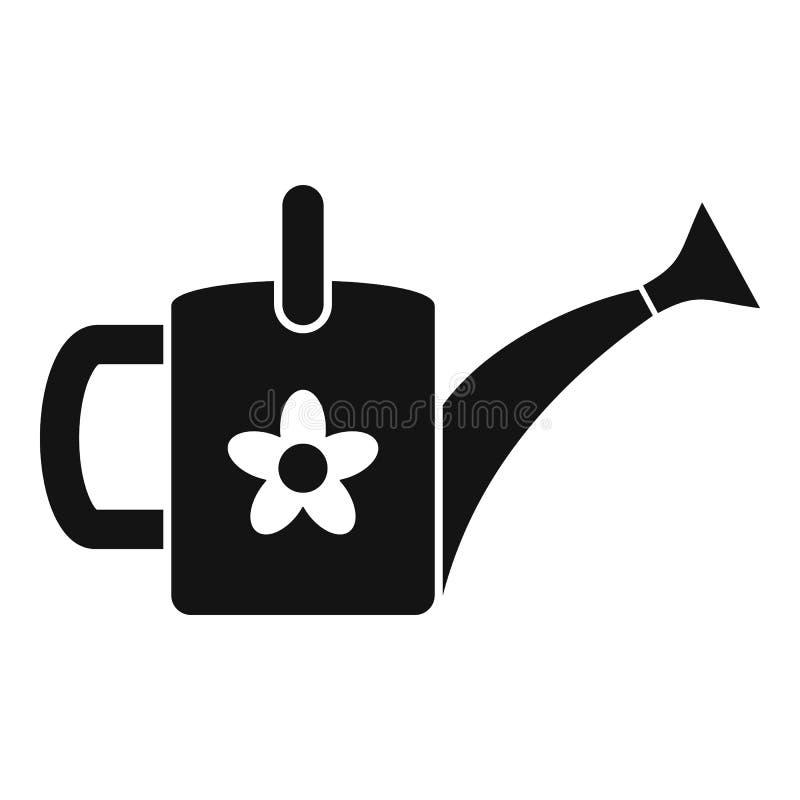 Значок моча консервной банки цветка, простой стиль бесплатная иллюстрация