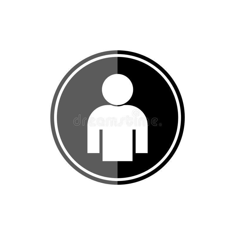 Значок мужского круга профиля учетной записи пользователя плоский для приложений и вебсайтов бесплатная иллюстрация