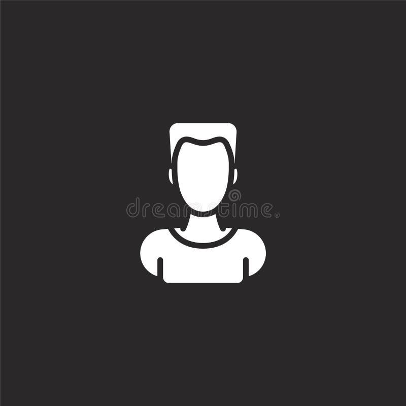 значок мужчины. Заполненный значок для дизайна веб-сайтов и разработки иллюстрация вектора