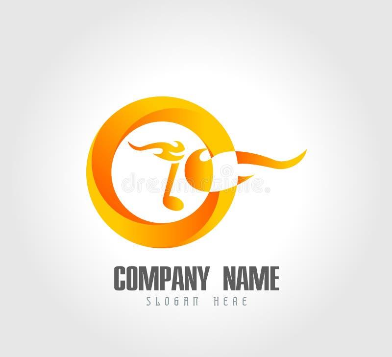 Значок музыкального горящего логотипа круга примечания Огонь и символ музыки - иллюстрации вектора бесплатная иллюстрация