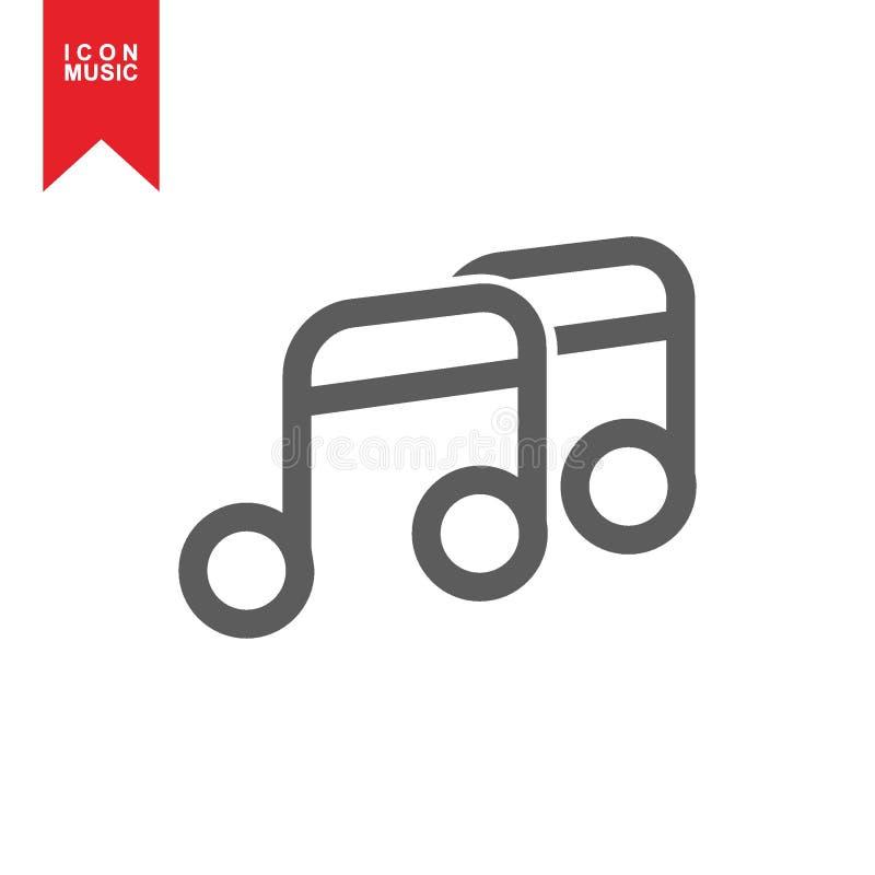 Значок музыки иллюстрация штока