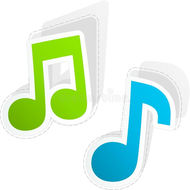 Значок музыки. бесплатная иллюстрация