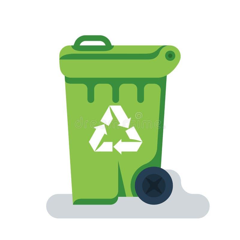 Значок мусорного контейнера Мусорен бак плоско конструировать бесплатная иллюстрация