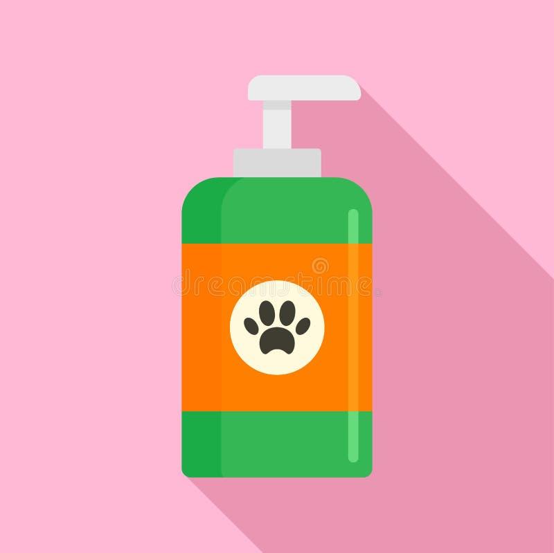 Значок мыла мытья любимца, плоский стиль иллюстрация штока