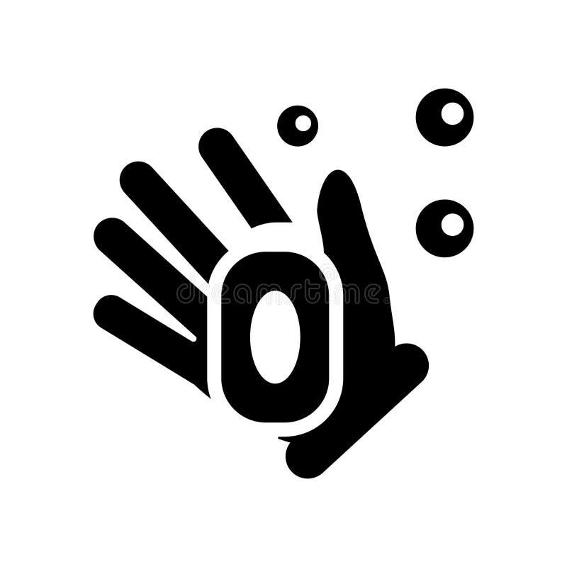 Значок мыла руки Ультрамодная концепция логотипа мыла руки на белом backgroun иллюстрация штока