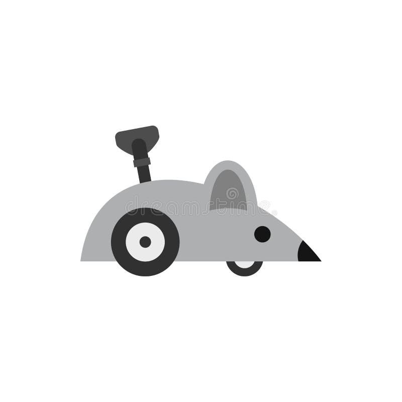 Значок мыши Clockwork, плоский стиль бесплатная иллюстрация