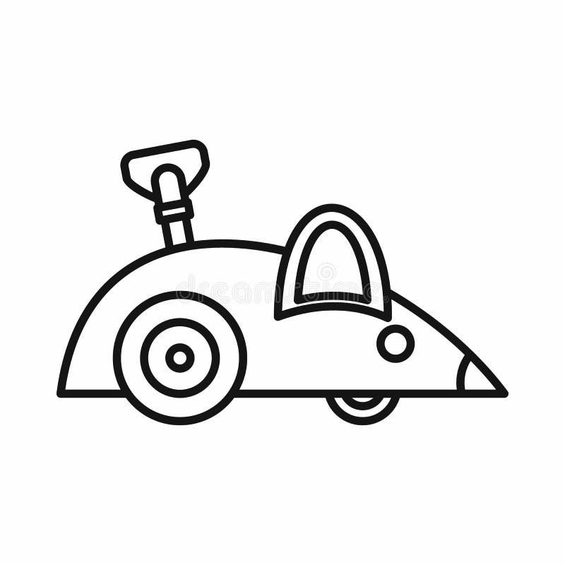 Значок мыши Clockwork, стиль плана иллюстрация вектора