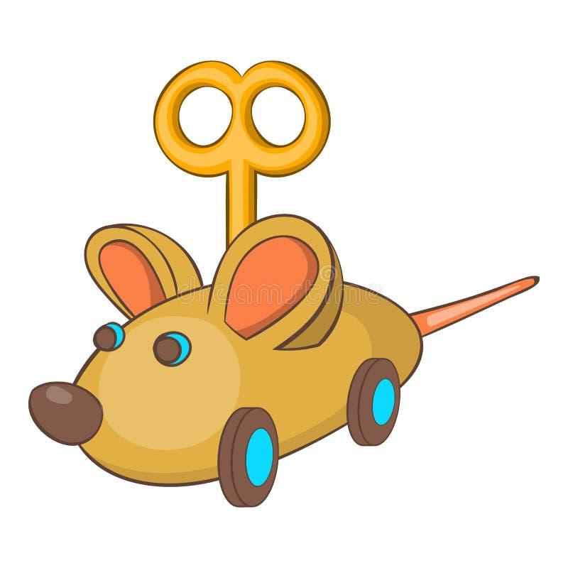 Значок мыши Clockwork, стиль шаржа иллюстрация вектора