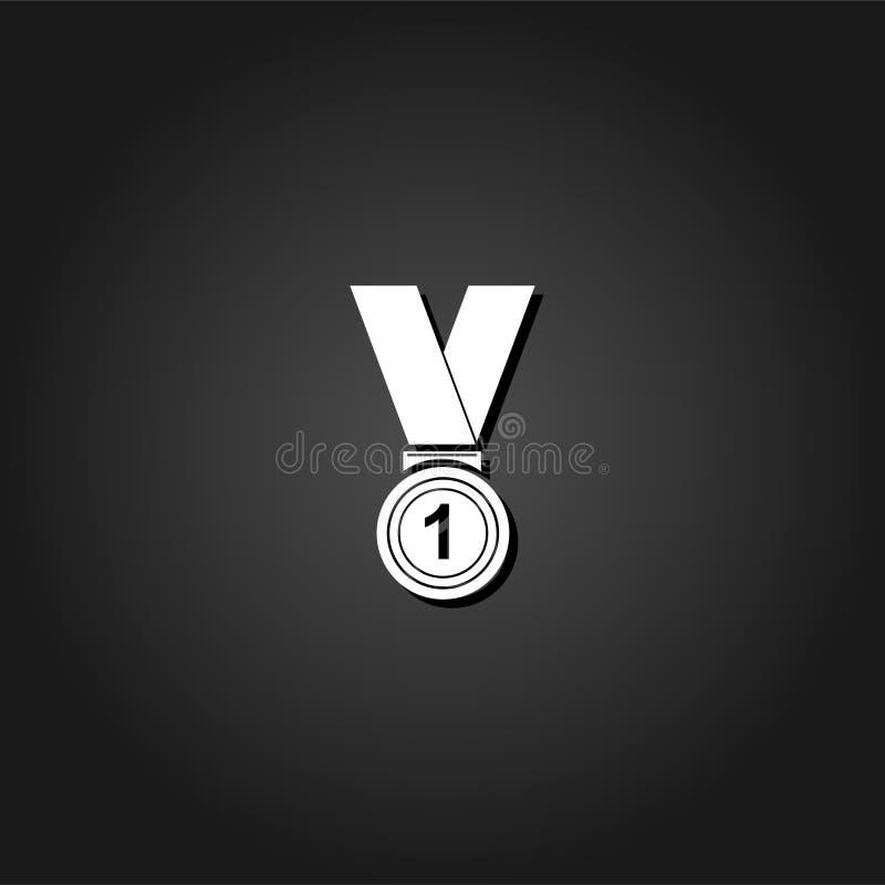 Значок награды победителя плоско бесплатная иллюстрация