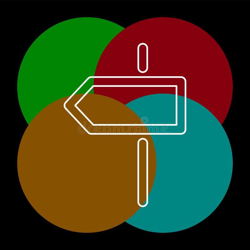 Значок направления перекрестка бесплатная иллюстрация