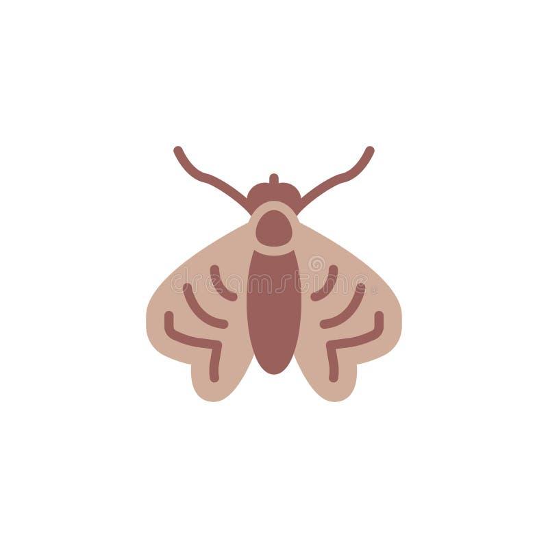 Значок насекомого моли плоский иллюстрация штока
