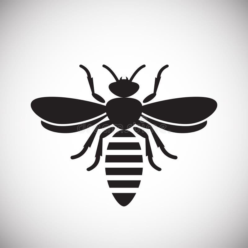 Значок насекомого пчелы на белой предпосылке для графика и веб-дизайна, современного простого знака вектора интернет принципиальн иллюстрация вектора