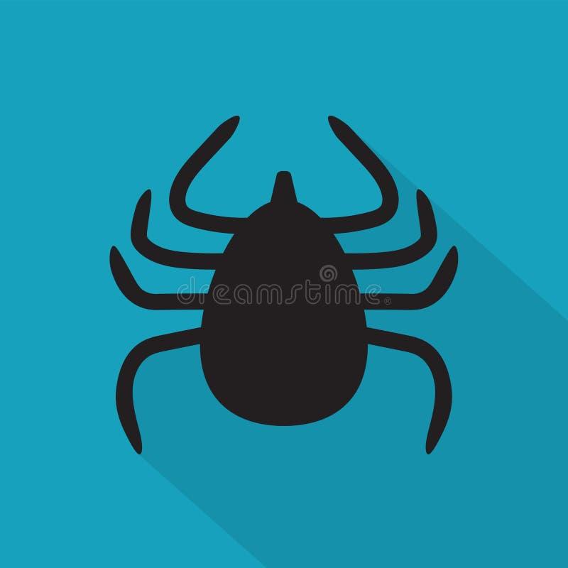 Значок насекомого lyme тикания иллюстрация штока