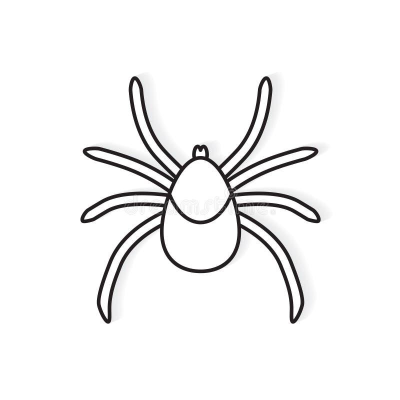 Значок насекомого lyme тикания иллюстрация вектора