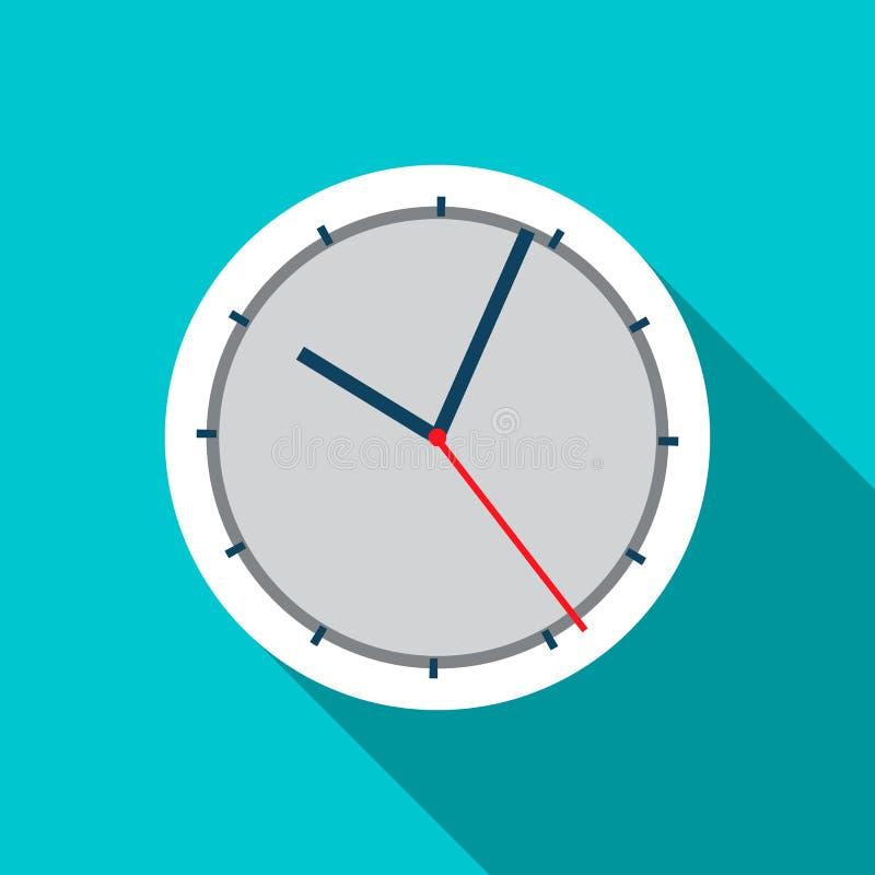 Значок настенных часов в плоском стиле иллюстрация вектора