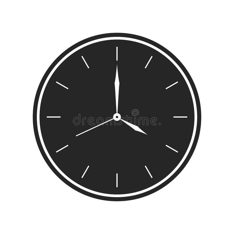 Значок настенных часов на белой предпосылке, для любого случая иллюстрация вектора